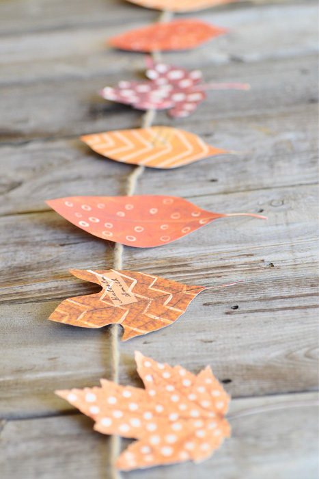 diy place cards autumn