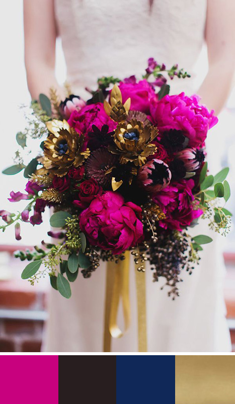 Bright And Bold 5 Fuschia Color Palettes For Your Wedding Day