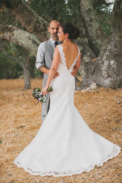 deer farm wedding portrait