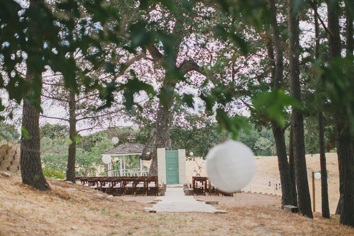 rustic outdoor wedding ceremony site