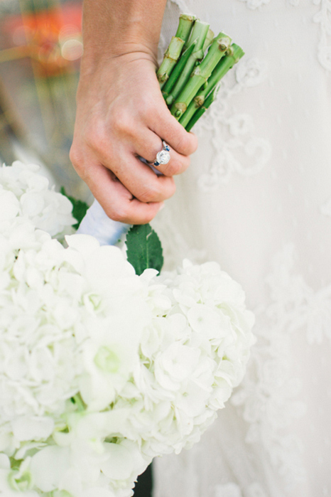 bride's white wedding bouquet
