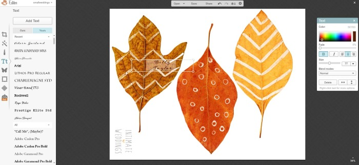 printable autumn leaves