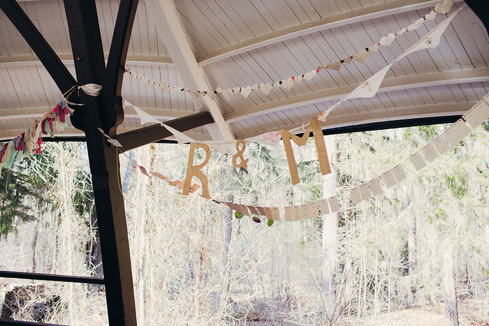 wedding initial garland