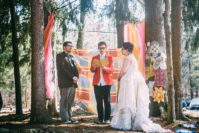 boho outdoor wedding ceremony