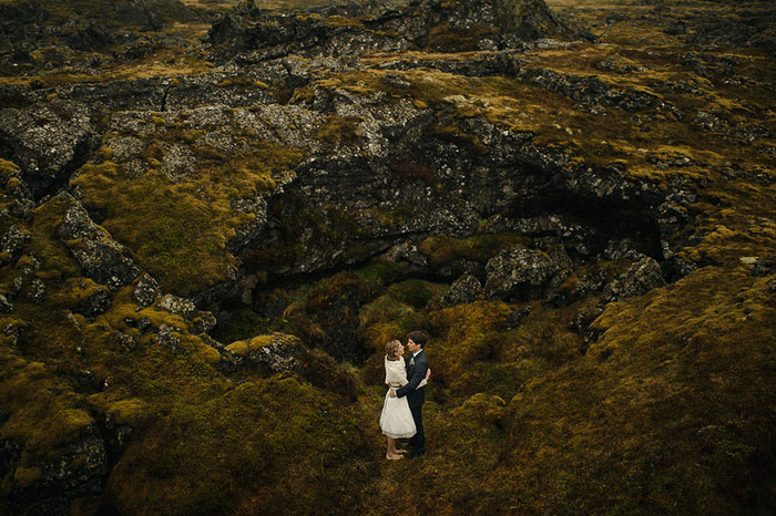 Iceland wedding portrait