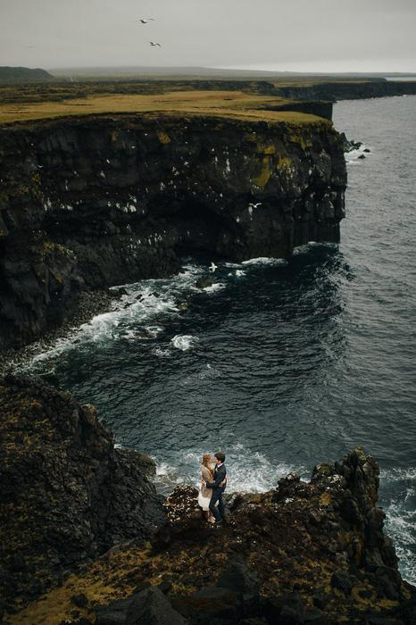oceanside wedding portrait
