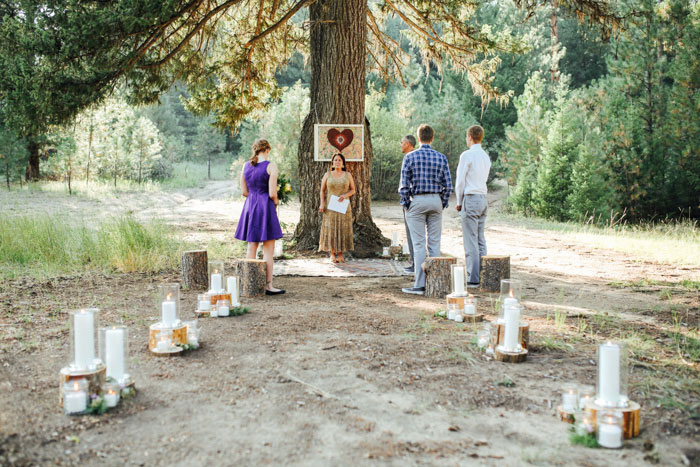 outdoor idaho mountain wedding