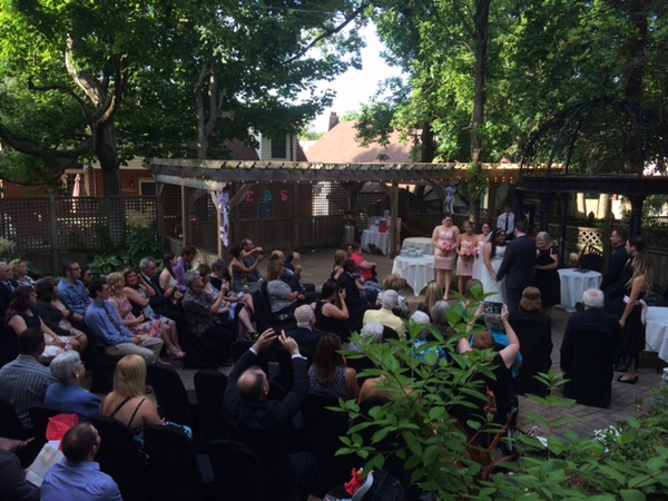 Courtyard Intimate Wedding Ceremony at the Idlewyld Inn - London Ontario