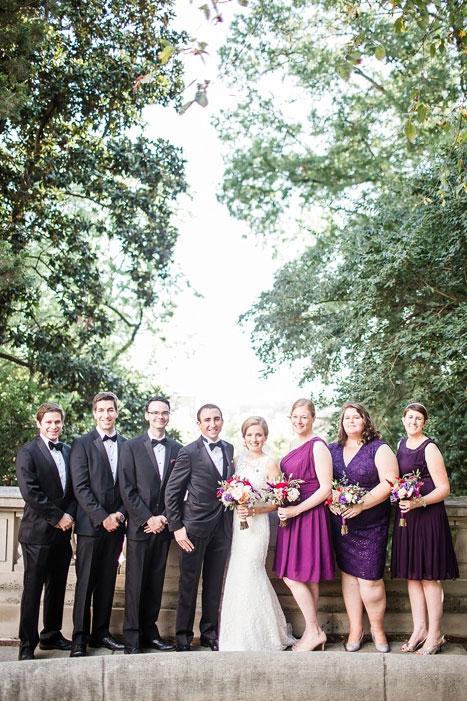full bridal party portrait