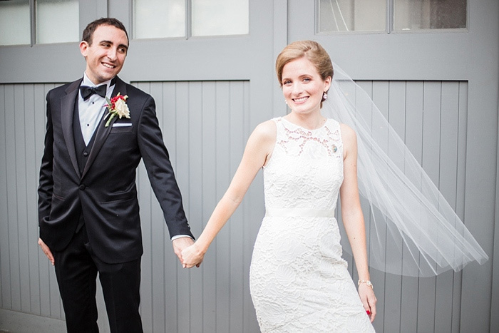 bride leading groom by hand