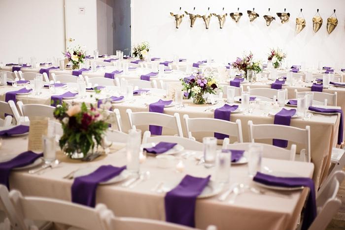 art gallery wedding reception set-up