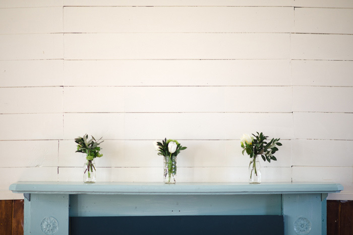 mason jar centerpieces on mantle
