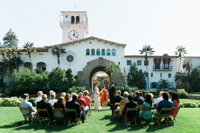 Santa Barbara outdoor wedding ceremony