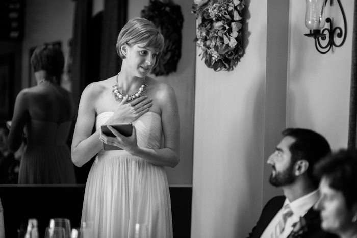 bride giving speech