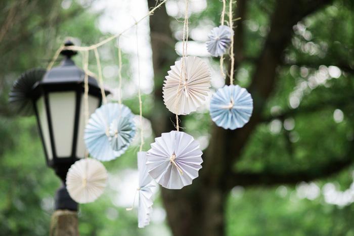 hanging paper pinwheels