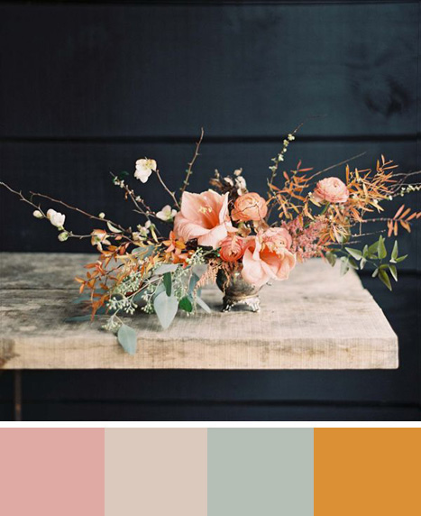 Mellow rose color board
