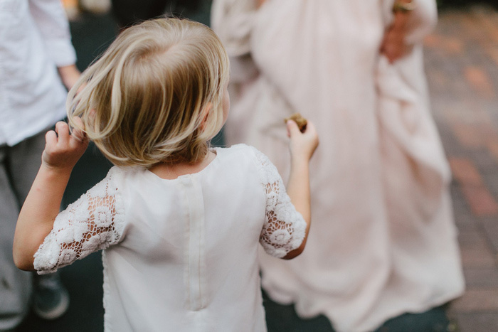 little girl dancing at wedding