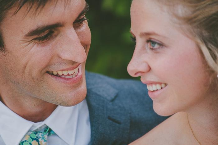 groom looking adoringly at bride