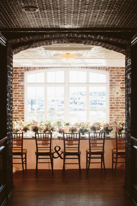 historic rice mill wedding reception