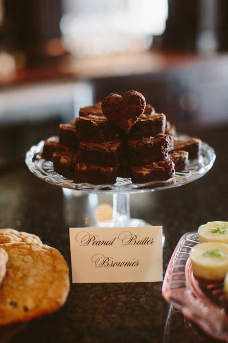 wedding brownies