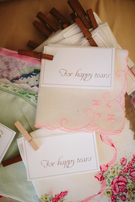happy tears wedding handkerchiefs