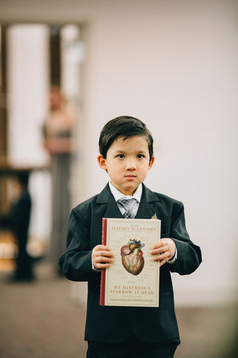 ring bearer carrying book