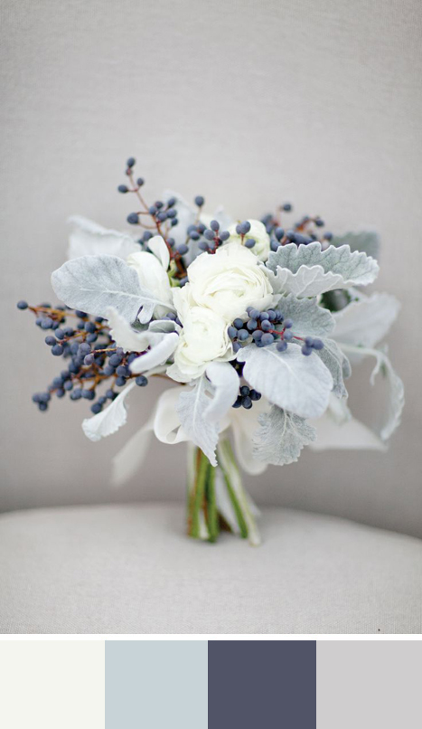 5 winter white color palettes for your wedding day for Winter wedding color palettes
