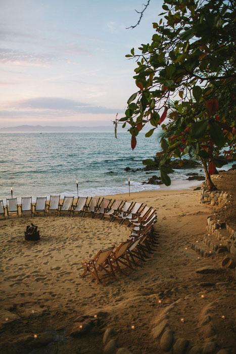 beach reception set-up