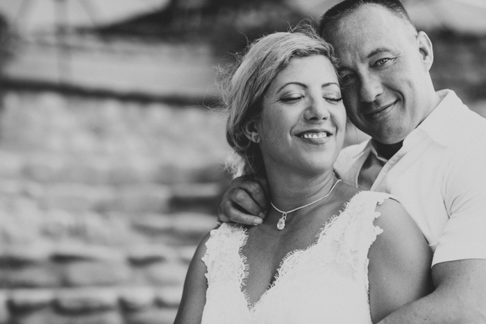 Black and white weddingportrait