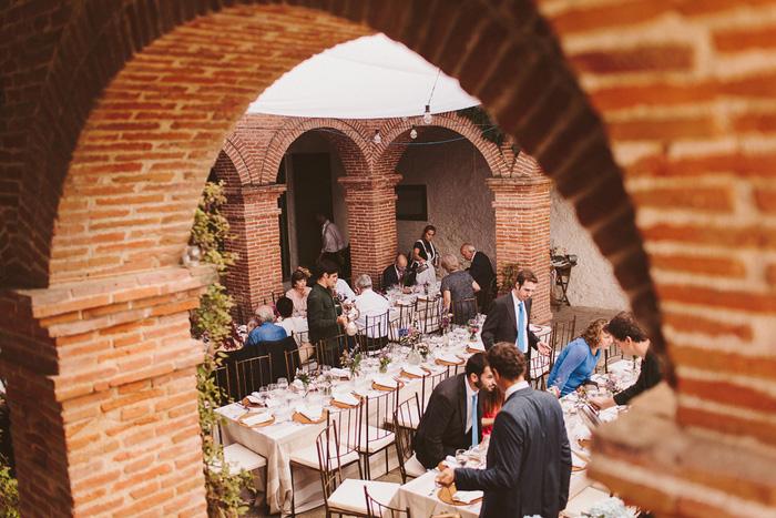 Spanish wedding reception