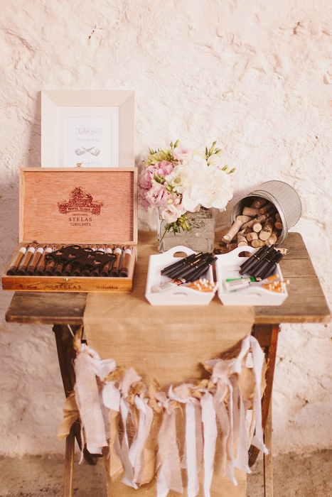 wedding cigar table