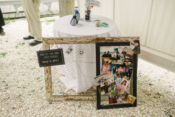 photo booth table