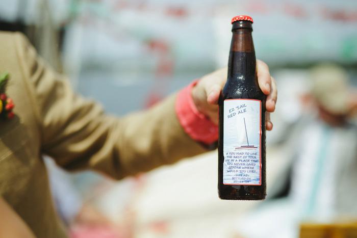custom wedding beer label