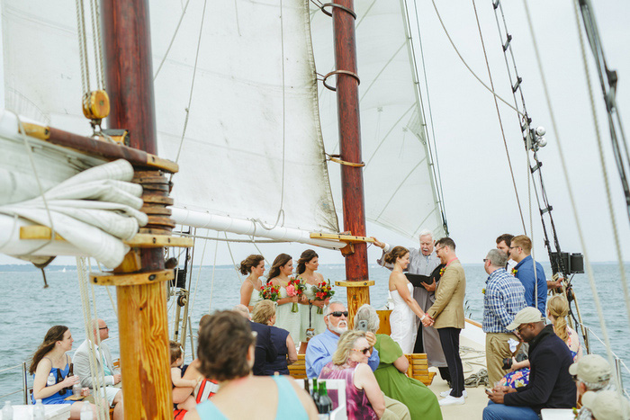 schooner wedding ceremoy