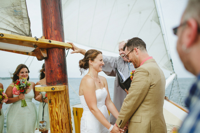 boat wedding ceremony