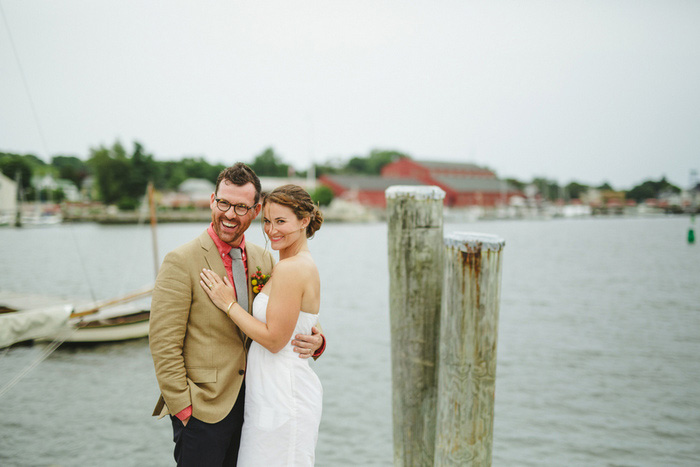 wedding portrait on dock