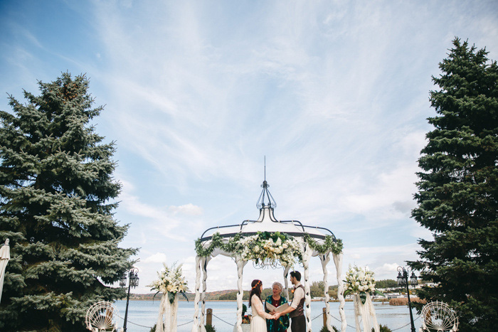 gazebo elopement ceremony