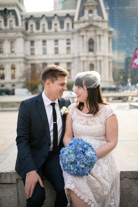 bride and groom in Philadelphia