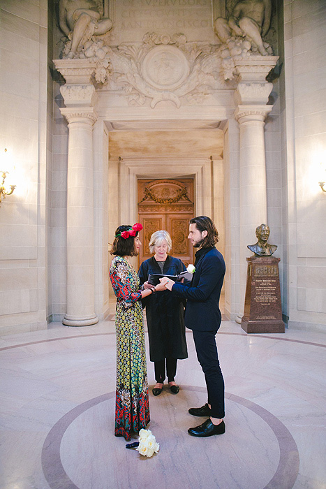 elopement ceremony in the rotunda at San Francisco City Hall