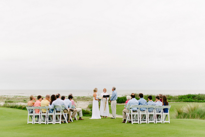 golf course wedding ceremony