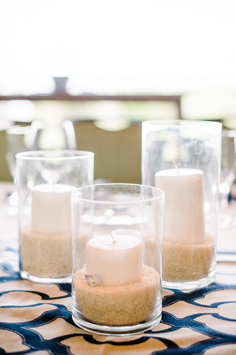 wedding candles in sand