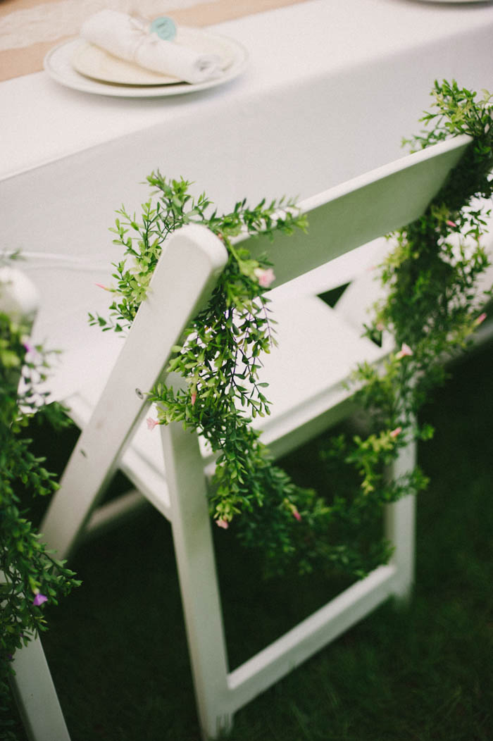 greenery chair garlands