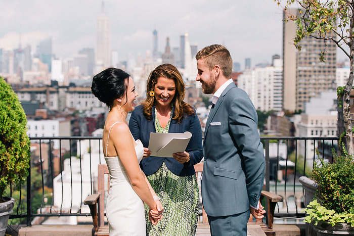 rooftop elopement ceremony