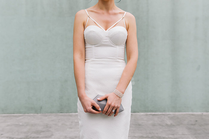 modern elopement dress