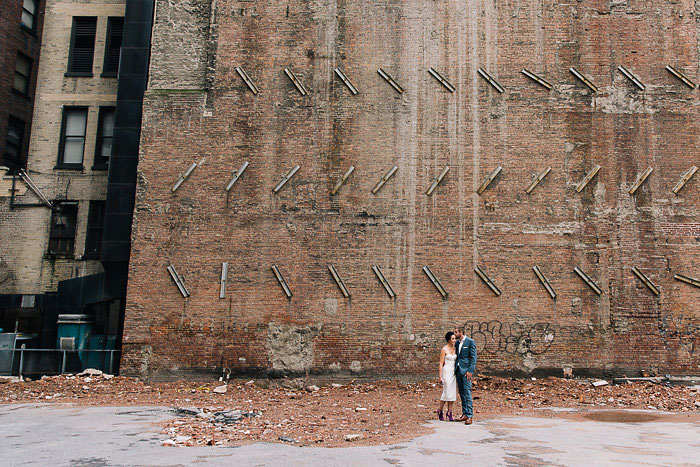 industrial wedding portrait