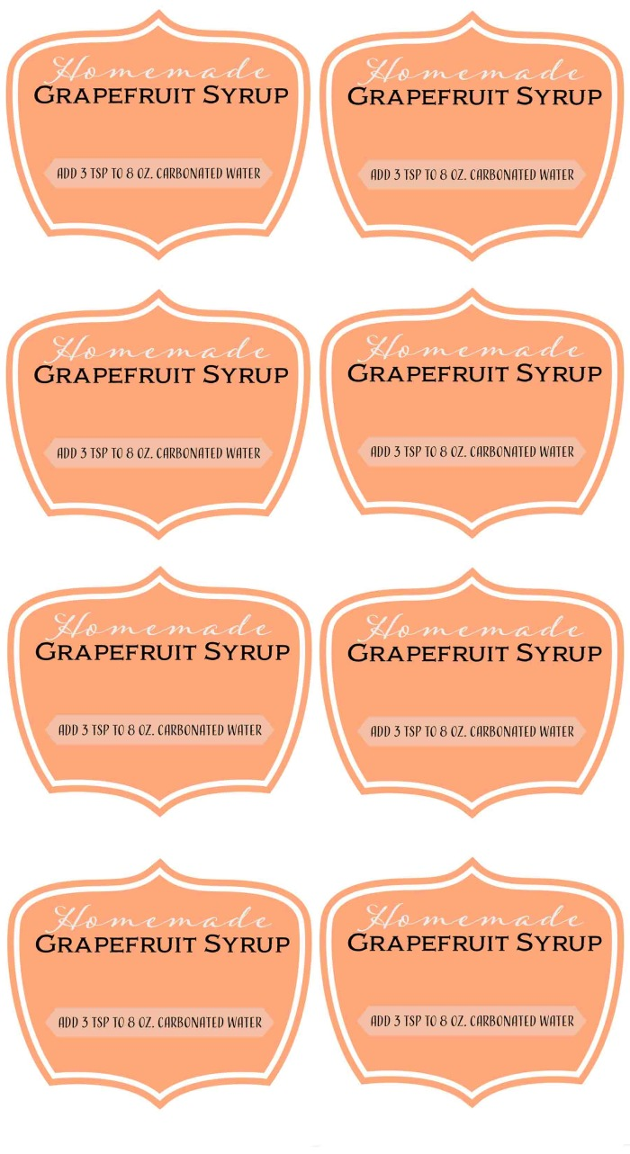 custom grapefruit labels