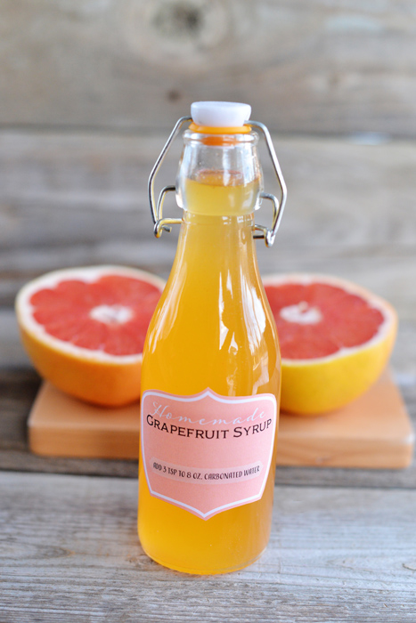 grapefruit syrup soda