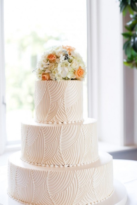 tiered textured cake