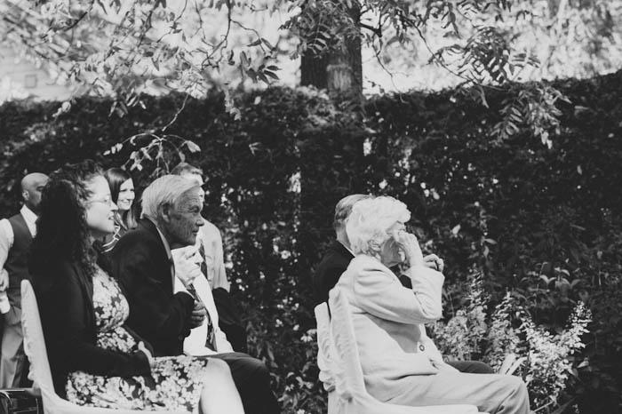 weddign guests at outdoor ceremony