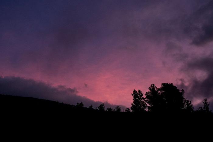 purple Hawaiian night sky